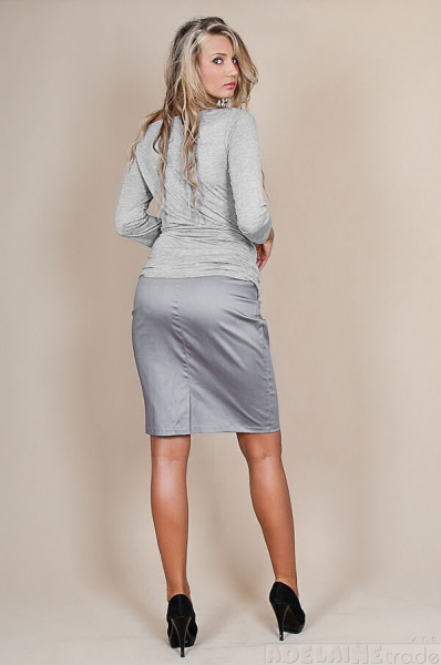 Be MaaMaa Tehotenské sukne Melanie - sivý popolček