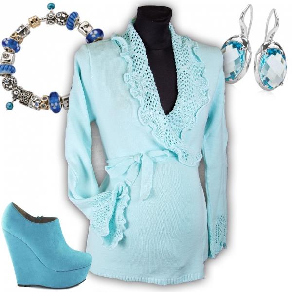 Těhotenský svetřík - Maminka II. - sv.modrý