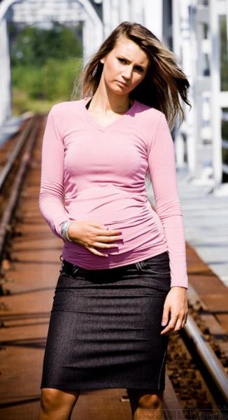 Tehotenské sukne SARA - black