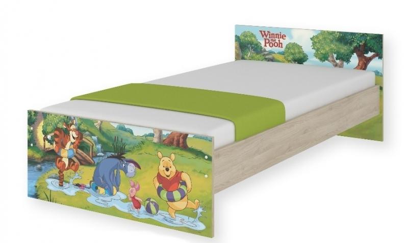 BabyBoo Detská junior posteľ Disney 180x90cm - Medvedík PÚ a čarovný les, D19