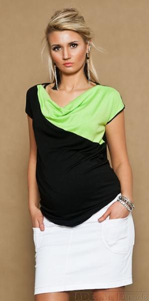 Be MaaMaa Tehotenské džínsová sukňa JOANA - biela