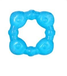 Hryzátko gélové Baby Ono Kostička - Modré