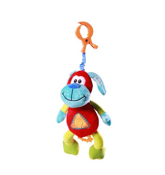 BabyOno Vibrujúca hračka s klipsou - Psík