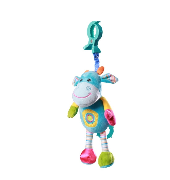 Vibrujúca hračka s klipsou Baby Ono - Kravička
