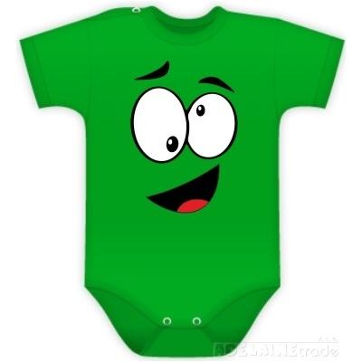 Body Kr. rukáv s Tvárou - zelené