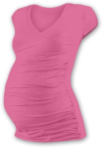 JOŽÁNEK Teh. tričko MINI rukáv s výstrihom do V - ružovej