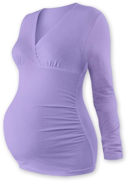 Tehotenské tričko / tunika dlhý rukáv EVA - levanduľa veľ. S/M