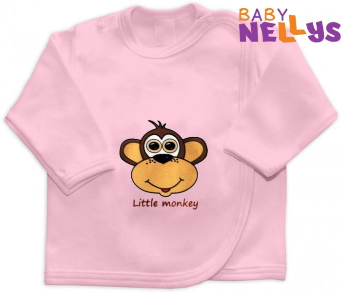 Košieľka Little Monkey Limited, sv. ružová