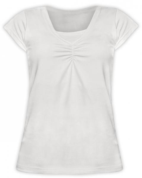 JOŽÁNEK Dojčiace, tehotenské tričko KARIN - smotanovej-L/XL