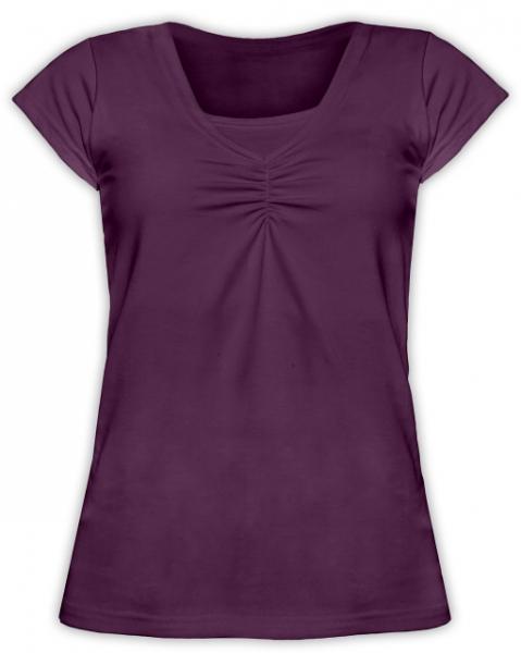 Dojčiace tehotenské tričko KARIN - švestkové