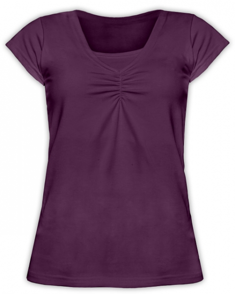 JOŽÁNEK Dojčiace, tehotenské tričko KARIN - slivkovej-L/XL