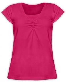 JOŽÁNEK Dojčiace, tehotenské tričko KARIN - sýto ružové-L/XL