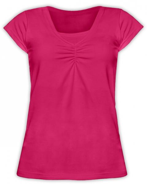 Dojčiace tehotenské tričko KARIN - sýto ružové