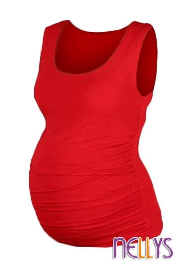 Top, tielko DANA nielen pre tehotné - červená
