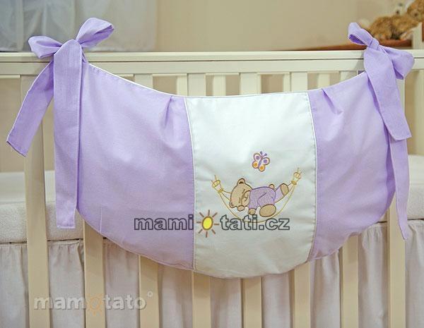 Luxusné vreckár na hračky - Hojdačka lila