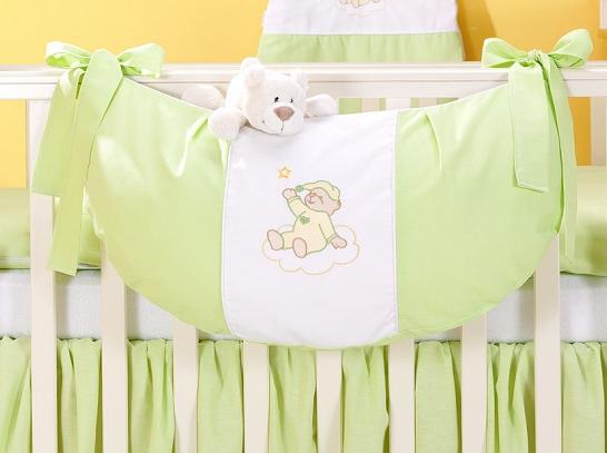 Luxusné vreckár na hračky - Mráčik zelený