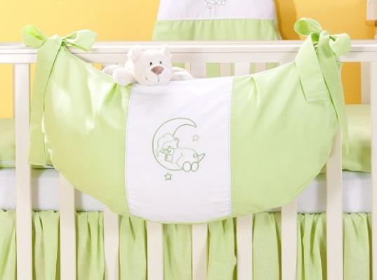 Luxusné vreckár na hračky - Mesiačik zelený