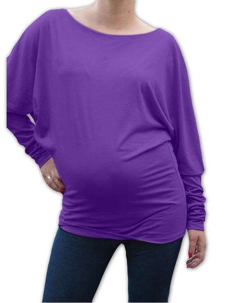 Symetrická tehotenská tunika - fialová
