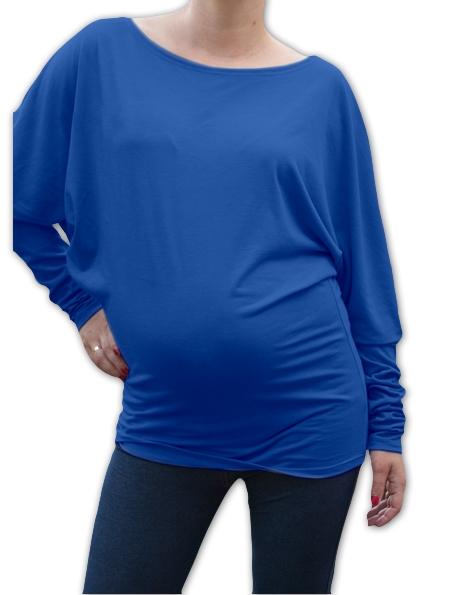 Symetrická tehotenská tunika - tm. modrý inkoust