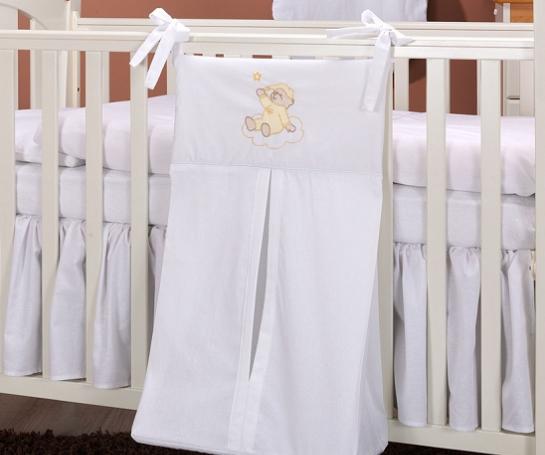 Luxusné vreckár na plienky - Mráčik biely
