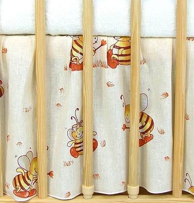 Krásny volánik pod matrac - Včeličky, 120x60 cm