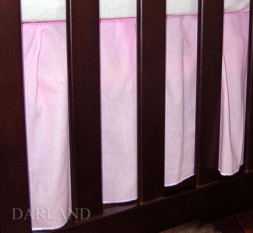 Krásny volánik pod matrac - Srdiečko ružové, 120x60