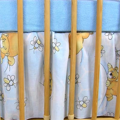 Darland Krásny volánik pod matrac - Včielka modrá-120x90