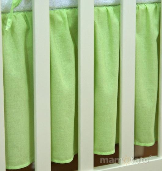 Krásny volánik pod matrac - Srdiečko zelené, 120x60