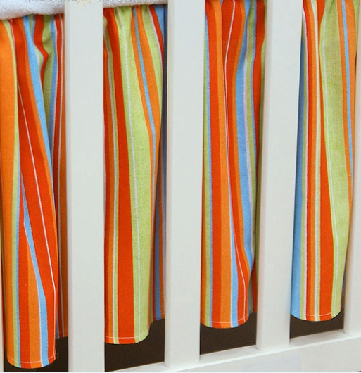 Krásny volánik pod matrac - Prúžok pomaranč, 120x60
