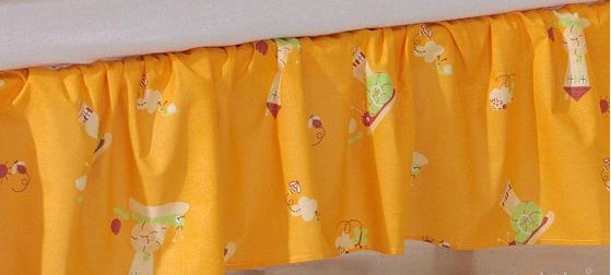 Krásny volánik pod matrac - Slimák pomaranč, 120x60
