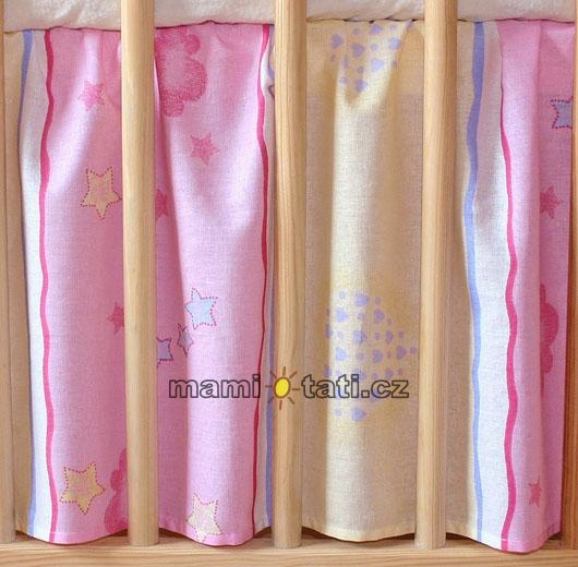 Krásny volánik pod matrac - Macko ružový