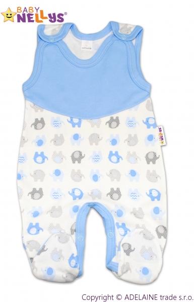 Dupačky Baby Nellys ®- Sloníky modré