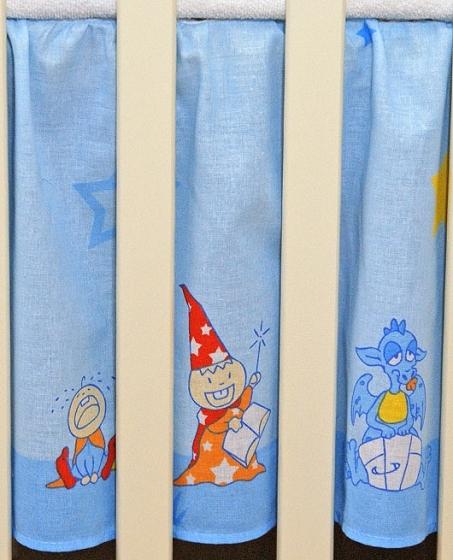 Krásny volánik pod matrac - Zámok modrý, 120x60