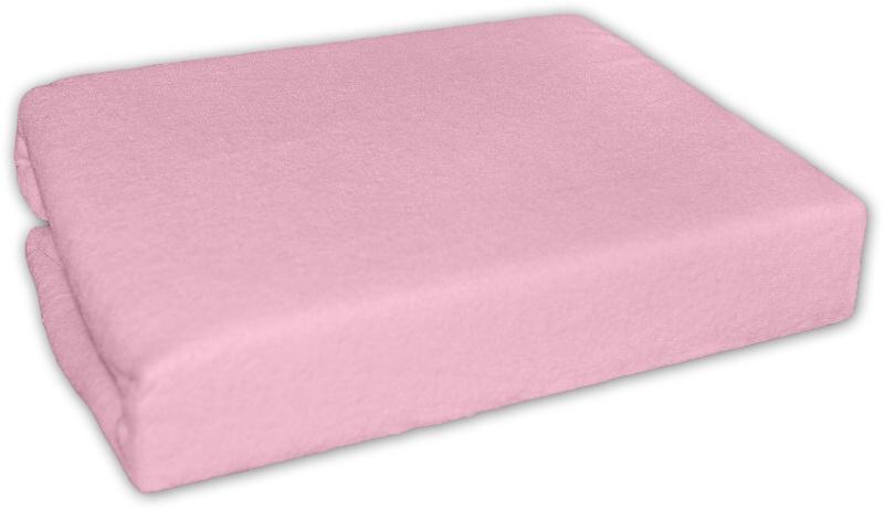 Baby Nellys Froté plachta do postielky 120x60cm - Ružové