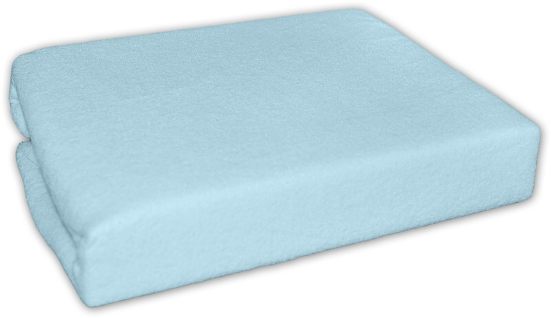 Baby Nellys Froté plachta do postielky 120x60cm - Modré