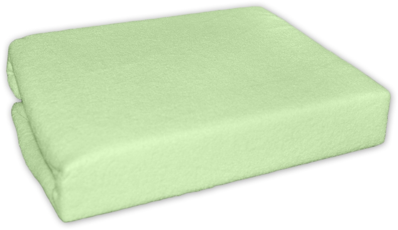 Baby Nellys Froté plachta do postielky 120x60cm - Zelené