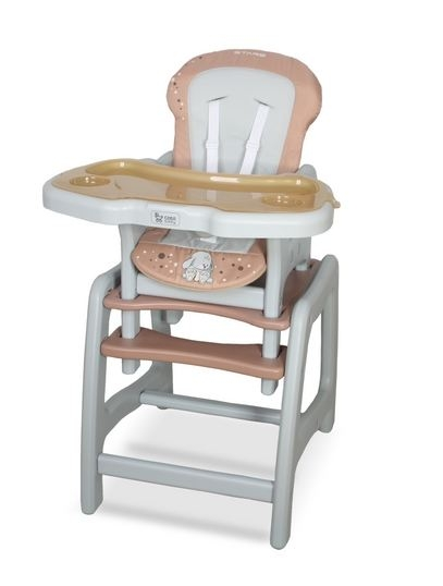 Jedálenský stolček Coto Baby STARS - brown