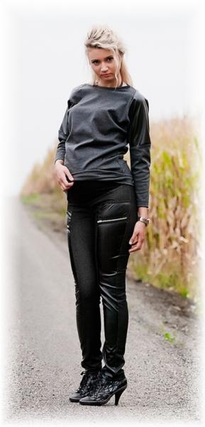Tehotenské nohavice Lavra - čierne veľ. L