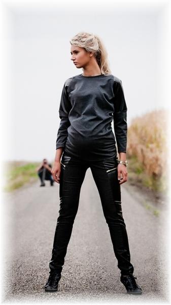 Be MaaMaa Tehotenské nohavice Lavra - čierne