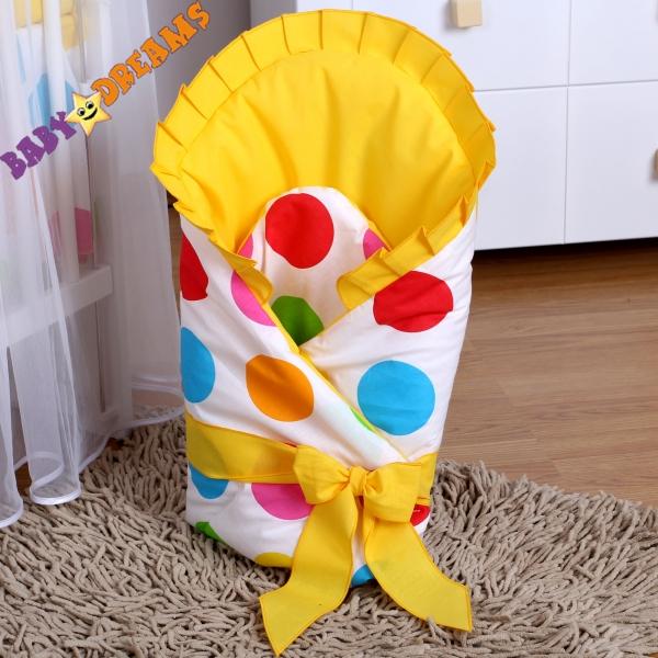 Baby Nellys Zavinovačka Bubble leto - žltá-S vyztuží zad