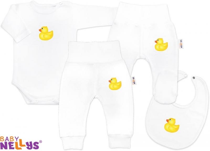 4D sada koj. oblečenie Baby Nellys® - Kačenka biela