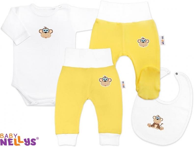 4D sada koj. oblečenie Baby Nellys® - Opička krémová
