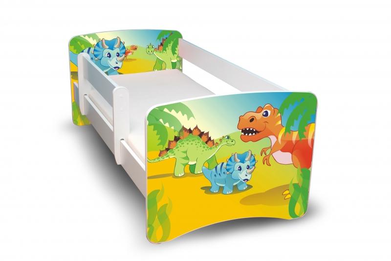 NELLYS Detská posteľ s bariérkou Dino II., 180x80 cm