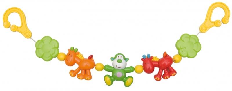 Reťaz do kočíka s opičkou Canpol Babies
