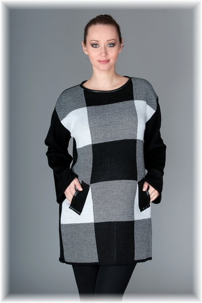 Tehotenská tunika/šaty OLIVIE - šedá