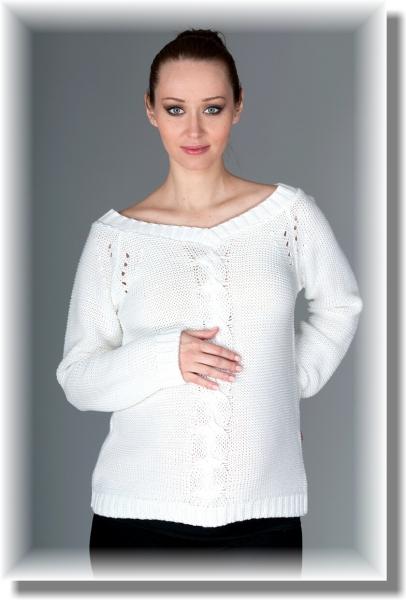 Tehotenský svetrík TIA - biely