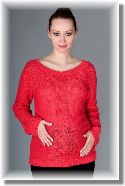 Tehotenský svetrík TIA - sýty koral