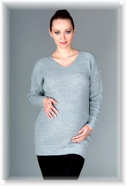Tehotenský svetrík Roxy - sivý