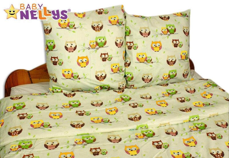 Bavlnené obliečky 140x200 - sovička pastel
