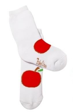 Bavlnené froté ponožky 12 -24m - Jabĺčko biele
